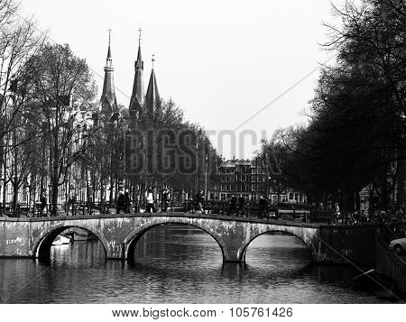 Amsterdam Canals in early springtime