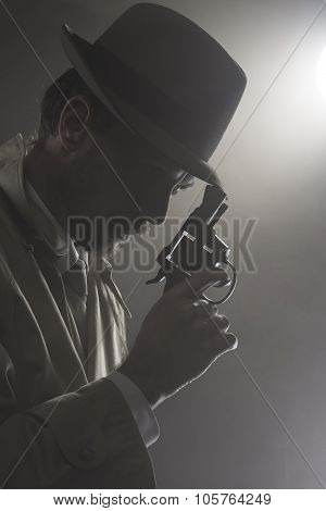 Film Noir: Detective In The Dark With A Gun