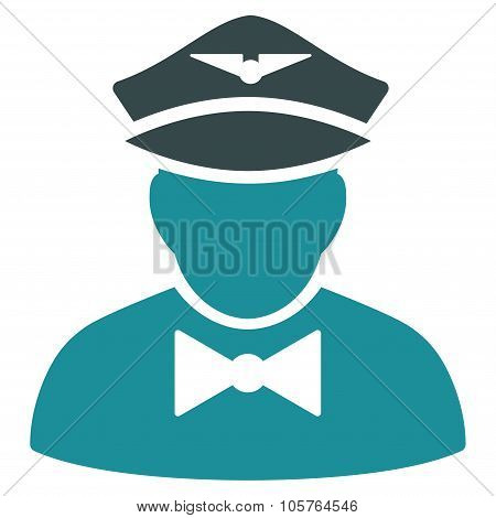 Airline Steward Flat Icon