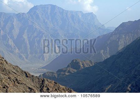 Deep valley on the Musandam peninsula