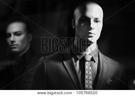 Portrait Of Bald-headed Mannequin