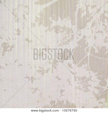 Blossom Print On Indigo Stripey Background