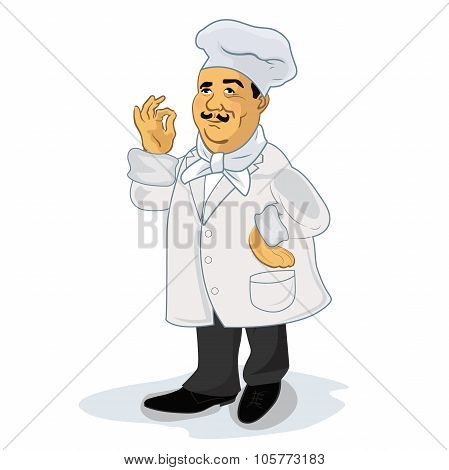 Chef Cook, vector illustration