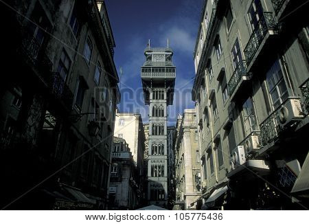 Europe Portugal Lisbon Elevador De Santa Justa