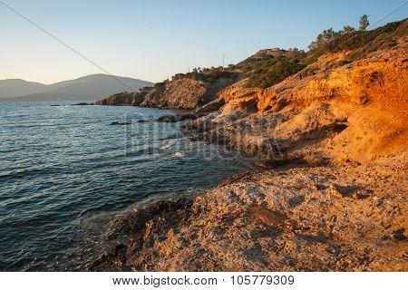 Sunset At Zastani Beach, Evbia, Greece