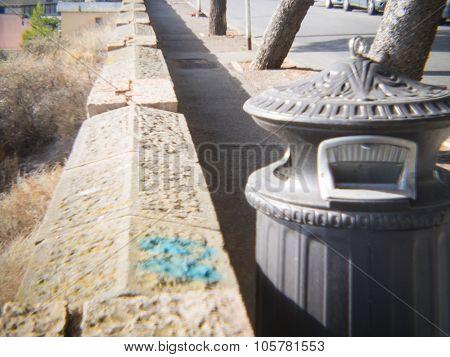 Dust Bin Street Wall
