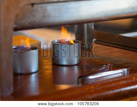 Sternos Under Warming Buffet Tray