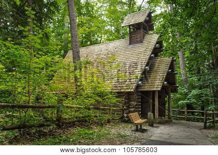 Log Chapel In The Woods