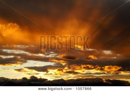 A Sunset In Kamchatka.