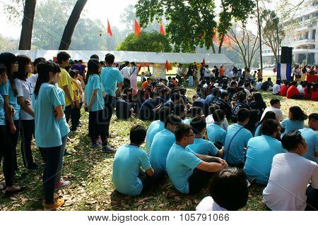 Asian Highschool Student, Activity, Camp