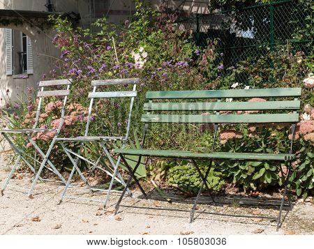PARIS, FRANCE - SEPTEMBER 10, 2014: Paris - gardens dedicated to Auguste Renoir surround the Museum of Montmartre