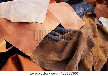 buckskin suede leather messy mixed tanner materials