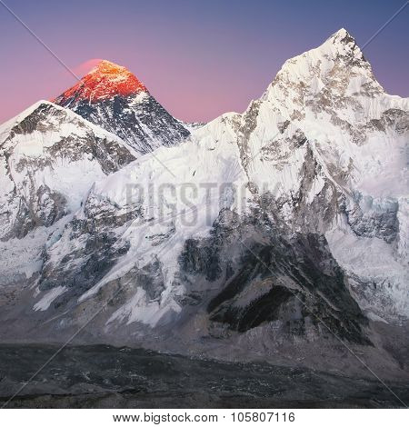 Mt. Everest and Nuptse