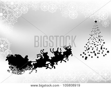 Black And White Christmas Background