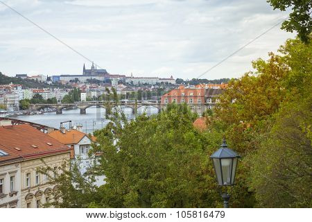 Prague Castle, View From Vysehrad National Cultural Monument