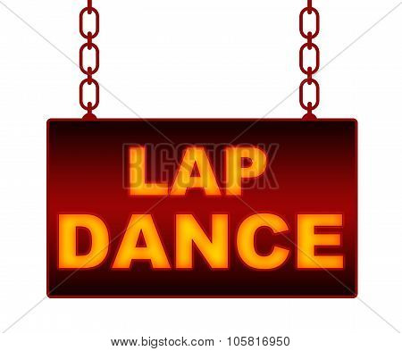Lap Dance Text Neon Signboard