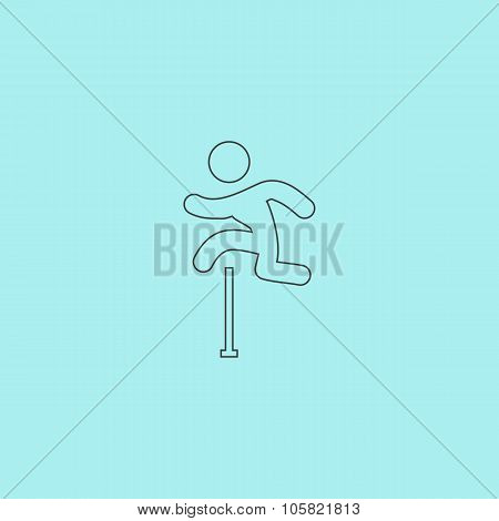 man figure jumping over obstacles