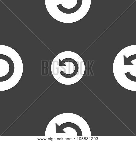 Upgrade, Arrow Icon Sign. Seamless Pattern On A Gray Background. Vector