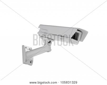 Heavy Duty Exterior Surveillance Camera Side View Isolated On White
