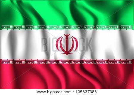 Flag Of Iran. Rectangular Shape Icon