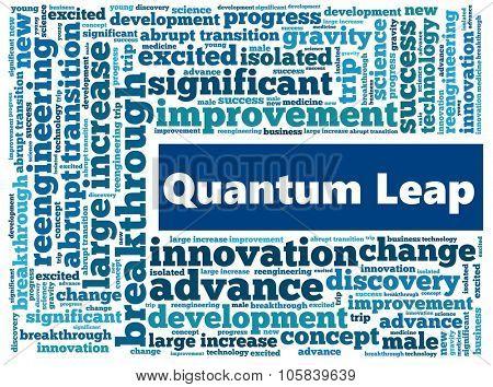 Quantum Leap in word collage