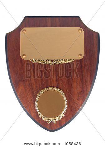 Blank Award Plaque