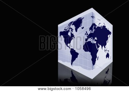 World Map In Box