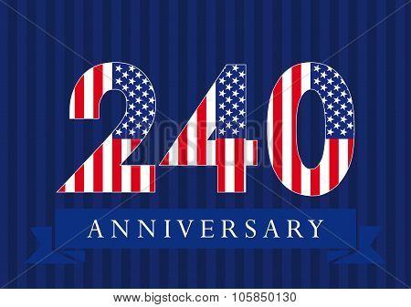 240 anniversary USA logo.