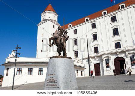 Main Entrance Of The Castle In Bratislava