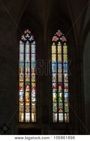 Stained Glass Window In St. Martin's Cathedral