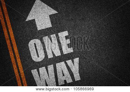 Arrow Sign Direction On Asphalt