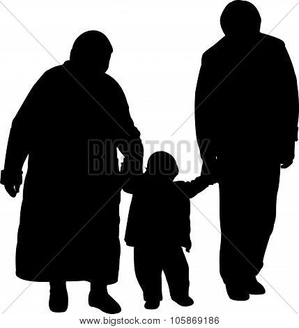 grand father and grand mother and grand son