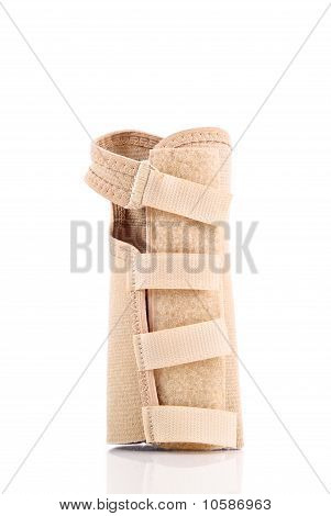 View Of Velcro Straps On A Carpal Tunnel Support Wrist Brace