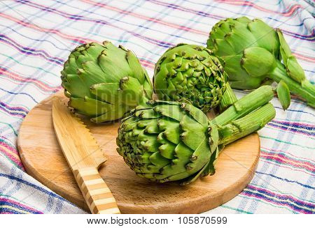 Globe Artichoke Ready Be Cut