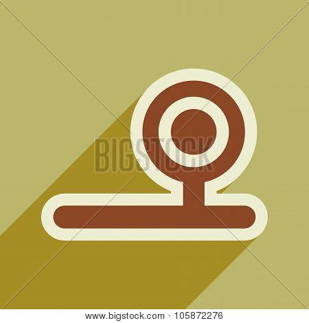 Icon of instrument otolaryngologist in flat style