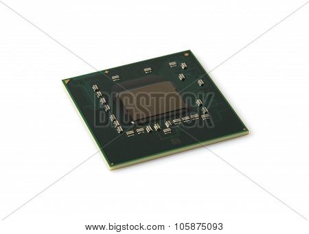 Electronic Component microchip photo isolate on a white background poster