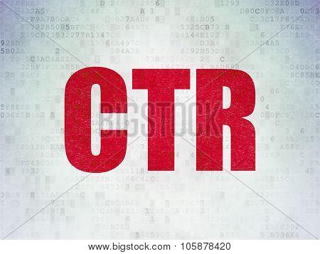 Finance concept: CTR on Digital Paper background