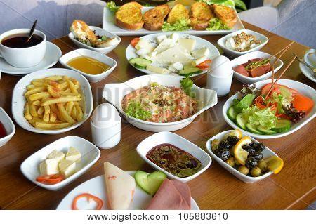 Excellent breakfast table