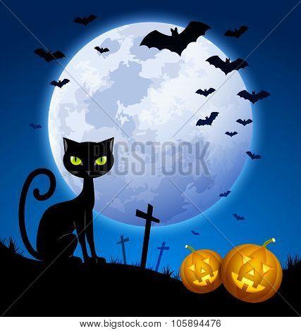 Creepy Halloween Scene