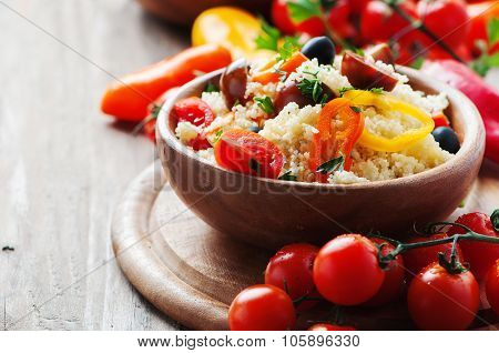 Couscous With Vegatables And Olive