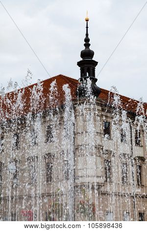 Water Fountain On Freedom Square In Brno