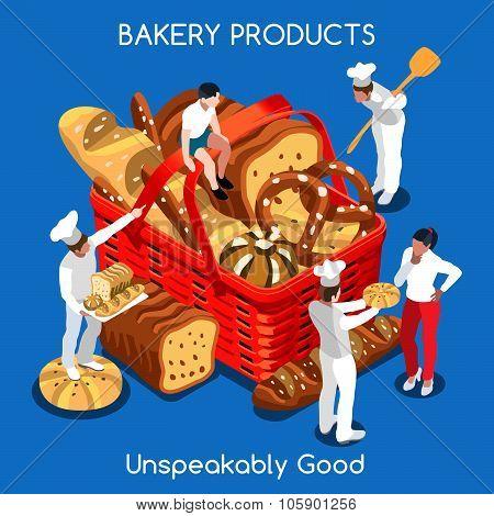 Bakery 01 Food Isometric