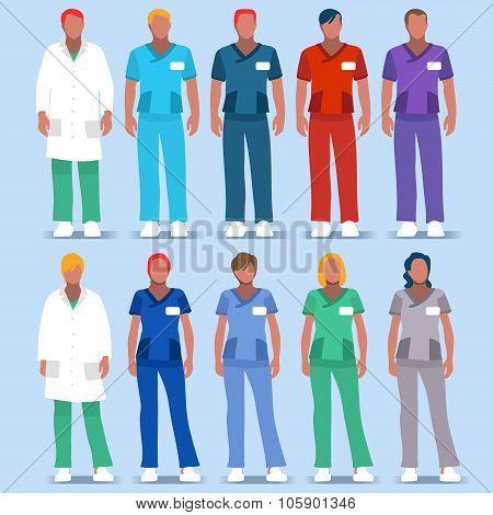 Hospital  People 2D