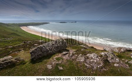 Rhossili bay and worms head