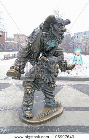 Tsvetnoy Boulevard. Sculpture Clowns