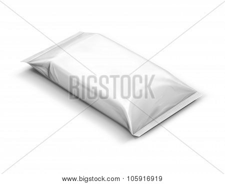 blank packaging paper wipes pouch isolated on white background poster