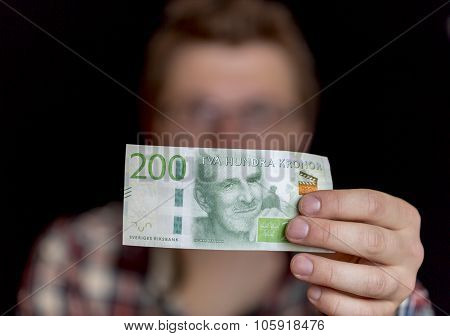 Swedish Two Hundred Krona Note