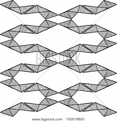 Grunge texture - abstract stock vector pattern - ornament made of polygons, lines and triangles.