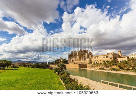 The Cathedral Of Santa Maria Of Palma De Mallorca, La Seu, Spain