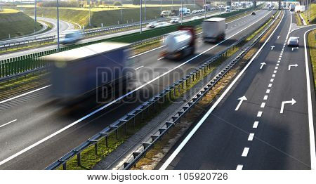 Four Lane Controlled-access Highway In Poland